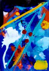 "Abstract Art print painting, ""Blue Harmony"", by hawaii"