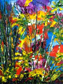 "Abstract Art print painting, ""Enchanted Jungle"", by hawaii"