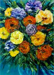 Impressionist Flower Art Print Painting by hawaii