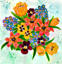 flower, hawaii flower  art  painting by hawaii artist Donald K. Hall #233