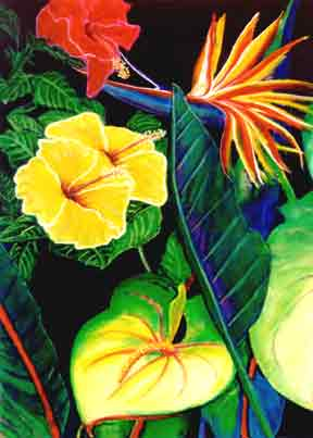 Hawaii Flower Art Paintings & Flower Art Prints for Sale ...