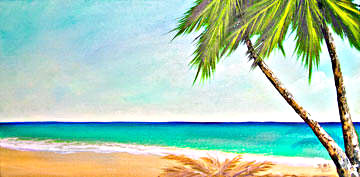 Hawaii Beach  art print for sale, Sunset Beach by Hawaii Beach artist Donald K. Hall #373
