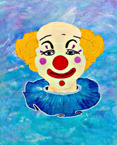 Clown #46 Happy Face by Hawaii artist Donald K. Hall