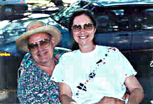 Hawaii artist Donald K Hall with wife Diane.